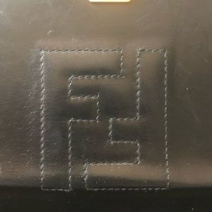 Fendi Bags - Fendi vintage Black leather shoulder bag